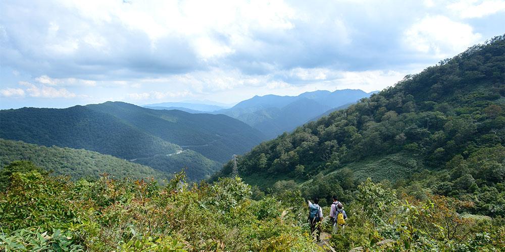 三国山へ山登り