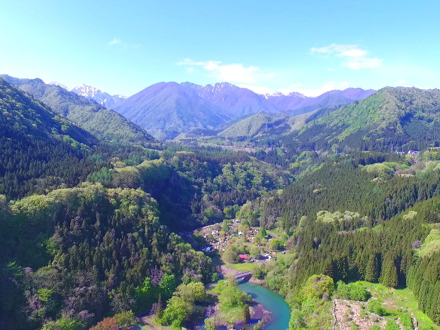 谷川山系と赤谷川